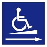 Panneau Handicapé rampe droite