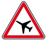 """Panneau A23 """"traversée d'une aire de danger aérien"""""""