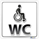 Plaque handicapé WC