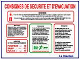Consignes de sécurité et d'évacuation Fr/An