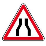 """Panneau A3 """"chaussée rétrécie"""""""