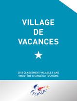 Panonceau de classement Village de vacances
