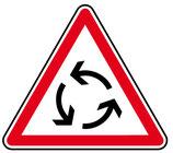 "Panneau AB25 ""carrefour à sens giratoire"""