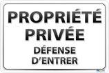 Propriété privée - Défense d'entrer