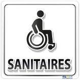 Plaque handicapé sanitaires