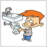 Plaque lavabo enfant