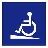 Panneau Handicapé rampe
