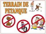 Pétanque, chiens, vélos et jeux interdits