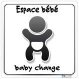 Plaque avec texte Espace bébé et pictogramme bébé