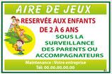 Aire de jeux Français vert