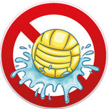 Ballons interdits dans l'eau