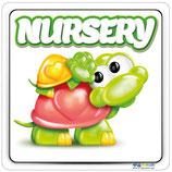 Plaque nursery avec tortue avec un bébé