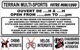 Terrain multi-sport avec horaires  Français/Anglais