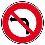 """B2a """"interdiction de tourner à gauche"""""""
