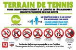 Règlement terrain de tennis