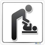 Plaque nursery avec pictogramme change bébé