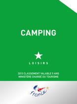 Panonceau de classement Camping Loisirs