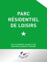 Panonceau de classement Parc Résidentiel de Loisirs