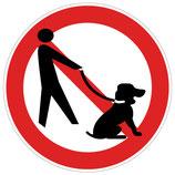 Chiens interdits picto homme avec chien