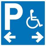 Directionnel parking handicapé