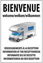 Camping car renseignements à la réception