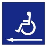 Panneau Handicapé entrée gauche