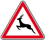"""Panneau A15b """"passage d'animaux sauvages"""""""