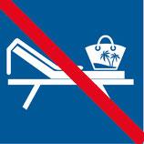Pictogramme interdit de réservé un transat