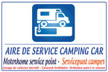 Panneau Aire de service camping car - Lavage interdit  en 3 langues