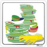 Plaque de porte bac à vaisselle