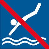 Pictogramme plonger interdit