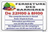 Fermeture des barrières Camping