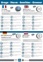 Consignes Orage en 4 langues