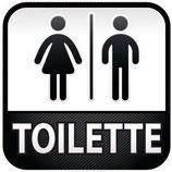 Plaque de porte homme/femme + texte