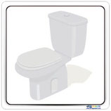 Plaque de porte toilette