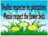 Respectez les plantations