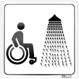 Plaque handicapé douche