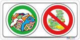 Pictogramme lavage linge - lavage vaiselle interdit