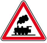 """Panneau A8 """"passage à niveau sans barrière"""""""
