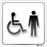 Plaque handicapé homme