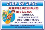 Aire de jeux Français bleu