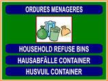 Containers poubelles divers