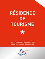 Panonceau de classement Résidence de tourisme
