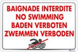 Baignade interdite 4 langues