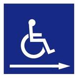 Panneau Handicapé entrée droite