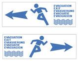 Flèche d'évacuation inondation