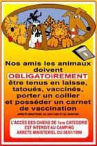 Règlement animaux