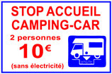 Camping car stop accueil