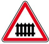 """Panneau A7 """"passage à niveau muni de barrières"""""""