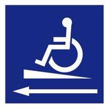 Panneau Handicapé rampe gauche